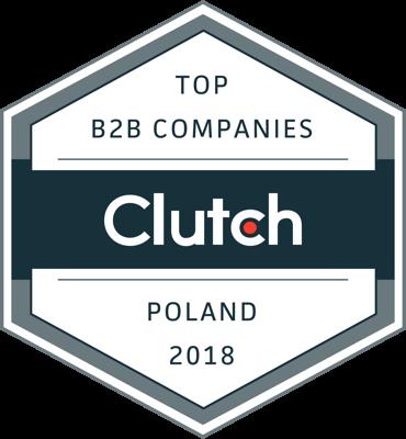 Clutch's Leading B2B Service Provider badge