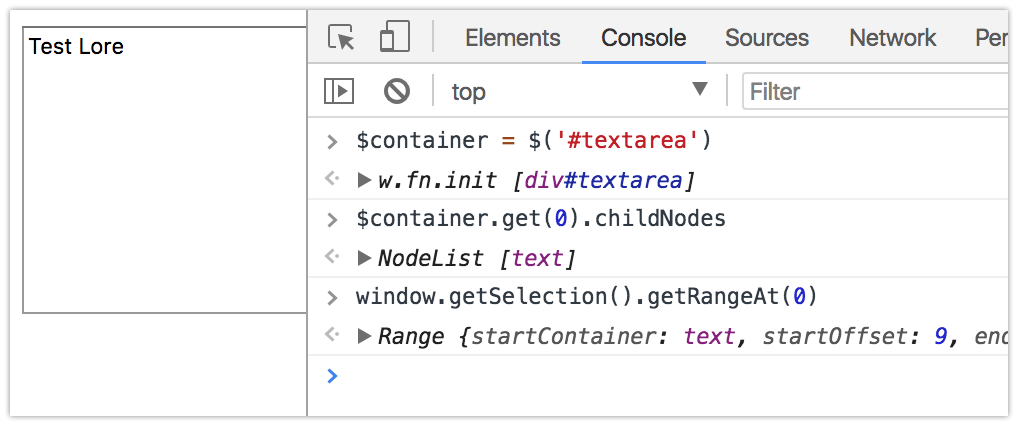 Ceasta: how to create custom text area using contenteditable element