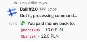 Slack pay command