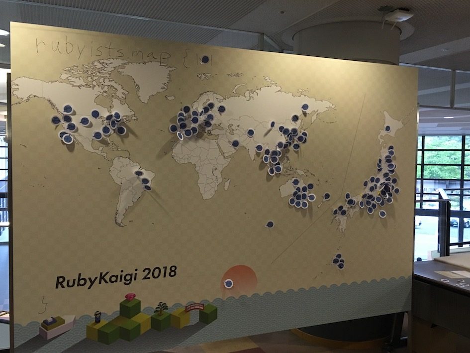 Rubyists map at RubyKaigi 2018