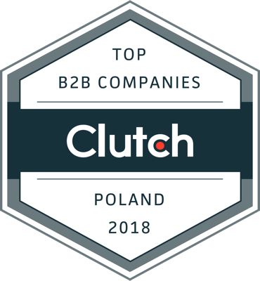 Clutch's Leading B2B Service Provider badge